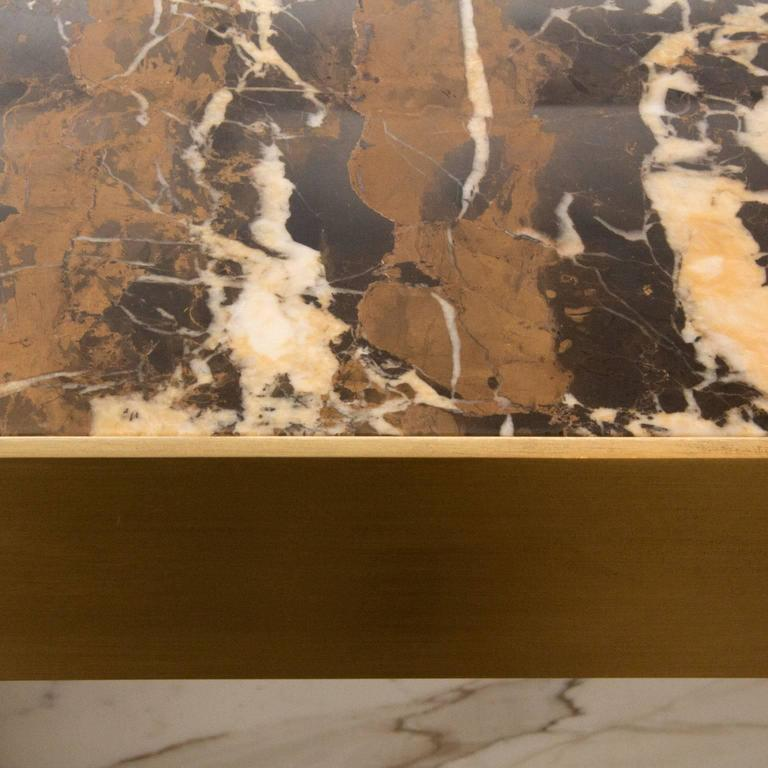 Half Moon Dining Table, Marble and Brass, by Lara Bohinc, In Stock For Sale 4