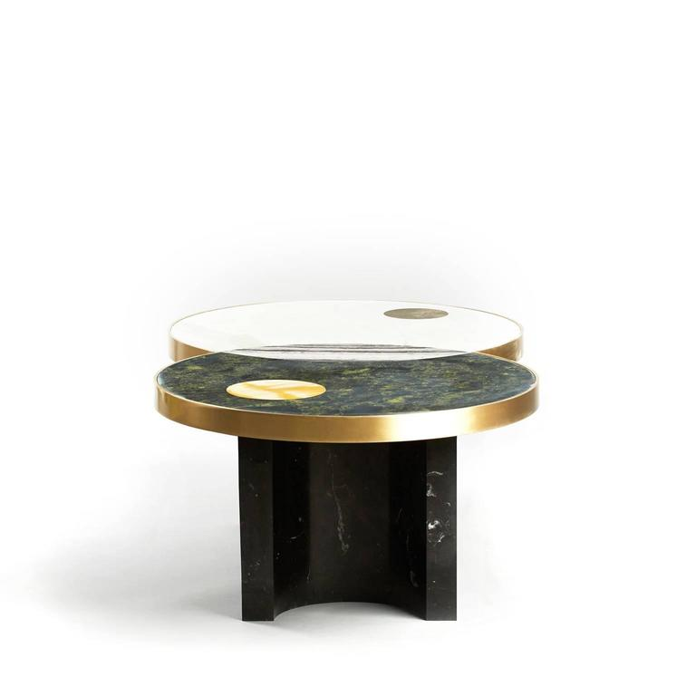The Lunar Collection Introduces The Half Moon Dining Table, The Sun And Moon  Coffee Table