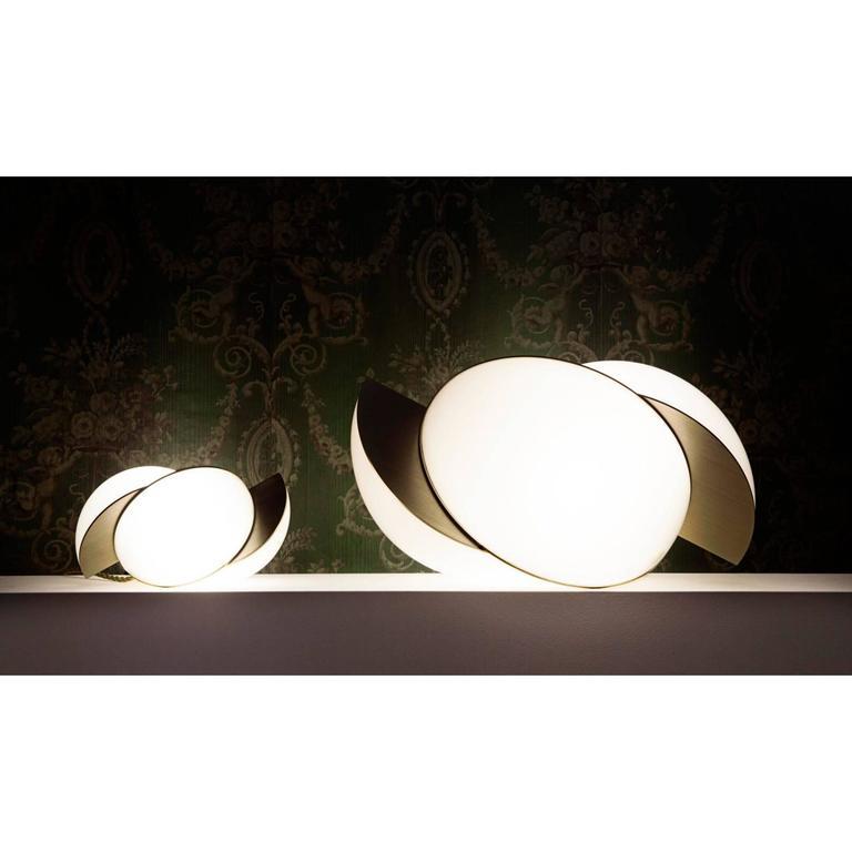 Lara Bohinc, Collision Large Table Light, Gold Galvanic with White Acrylic 3