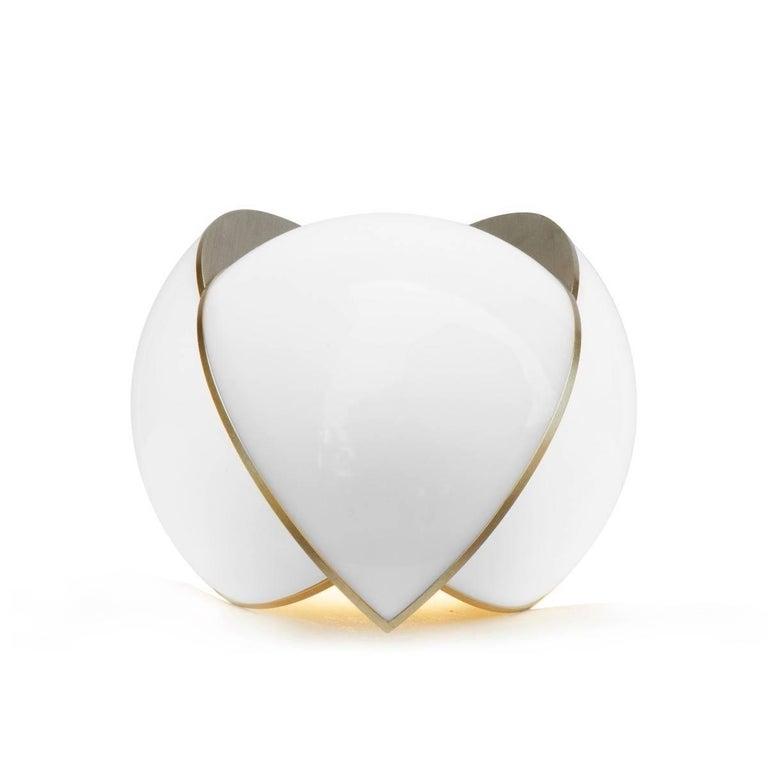 Lara Bohinc, Collision Large Table Light, Gold Galvanic with White Acrylic 7