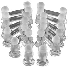 1900 Baccarat French Crystal Knife Rests Set 12 Pieces Cherub Model