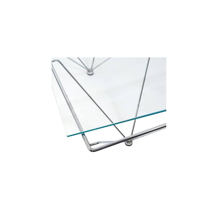 Chrome Paolo Piva Style Coffee Table For Sale