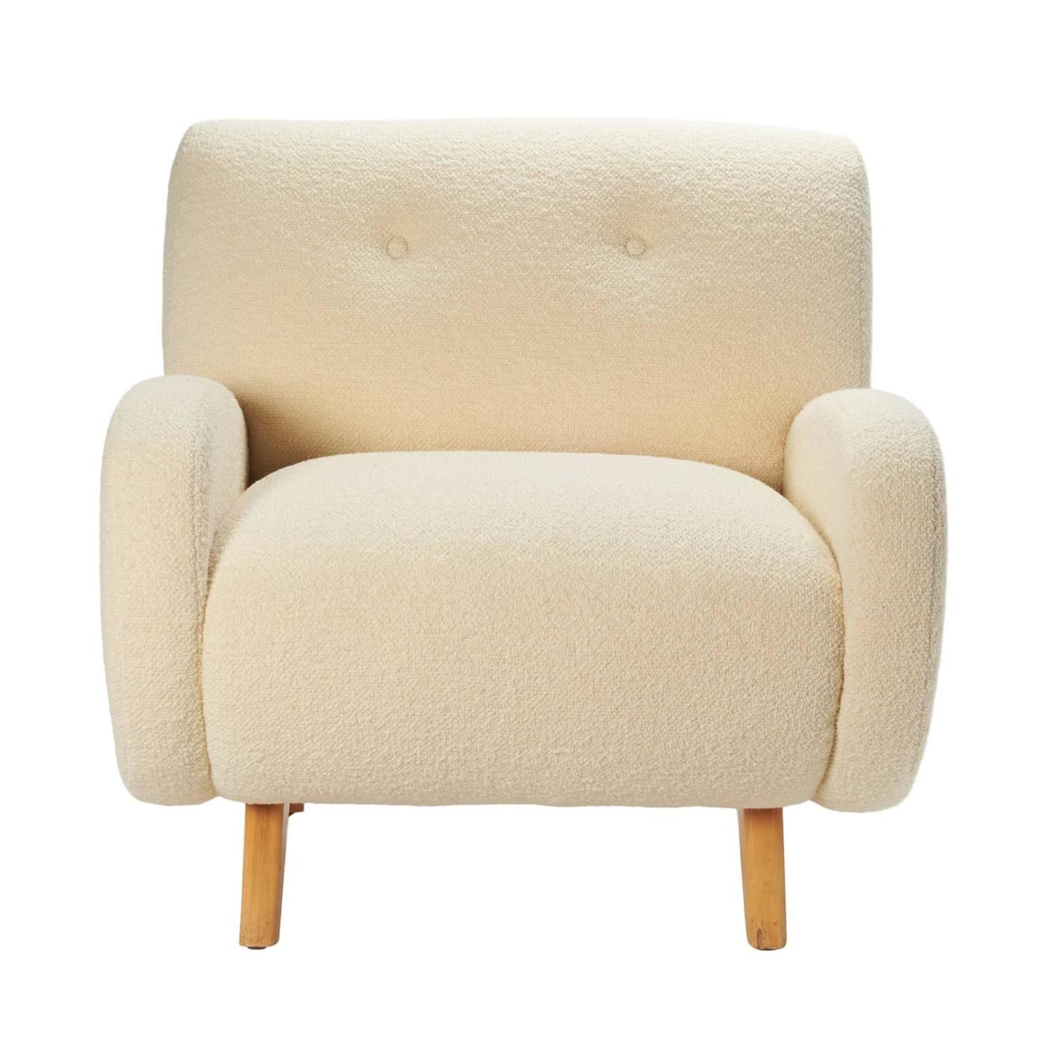 Oversized Mid Century Lounge Chair at 1stdibs