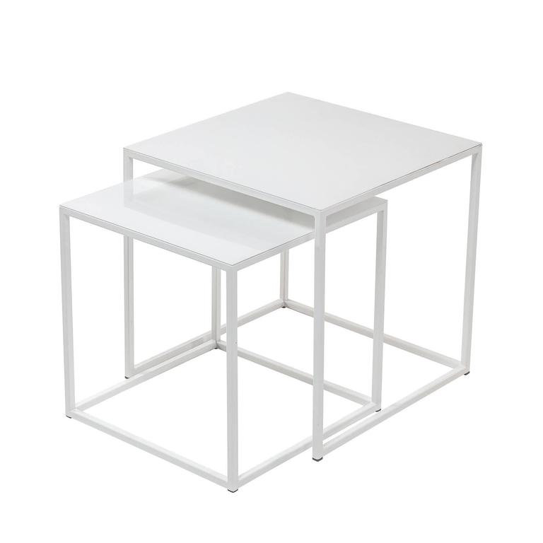 Exceptional Frisco White Nesting Tables By Patrick Cain Designs, Set Of Two 2