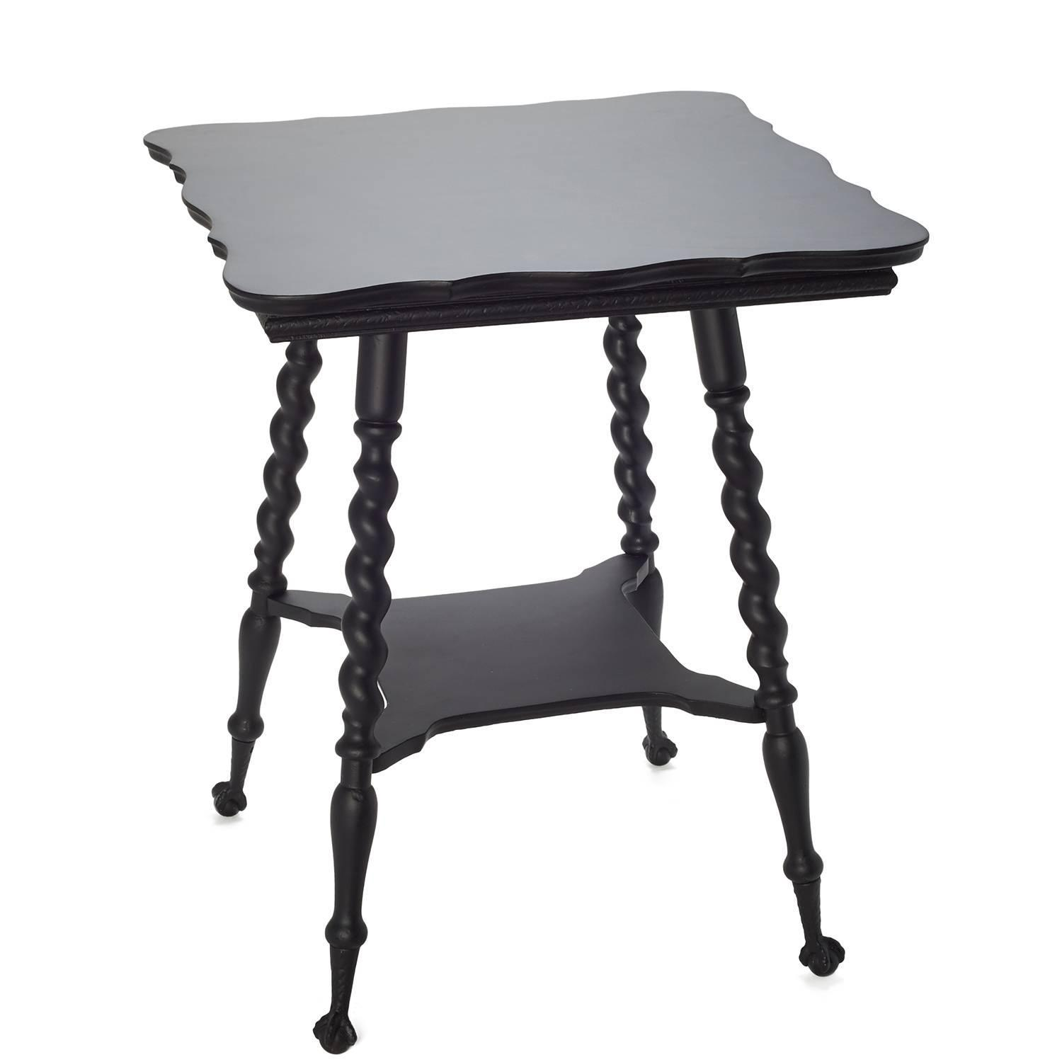 19th century victorian black claw foot side table for sale at 1stdibs. Black Bedroom Furniture Sets. Home Design Ideas