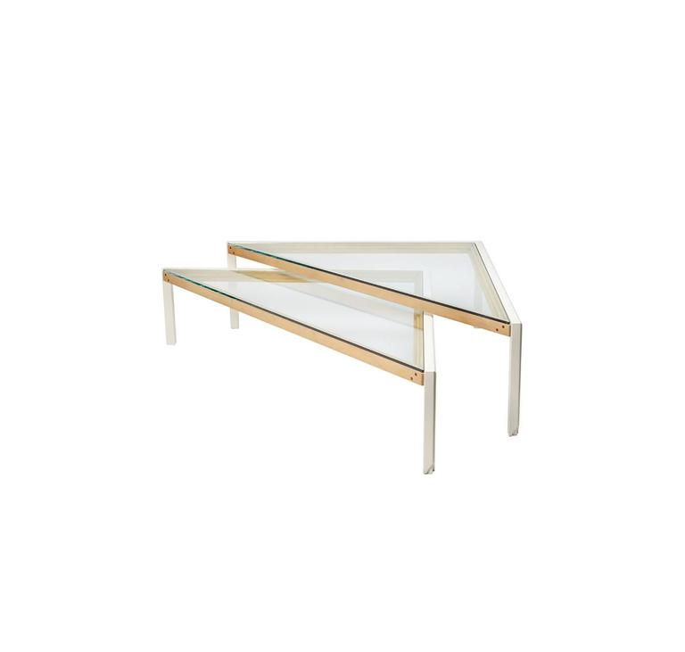 nesting glass coffee tables for sale at 1stdibs