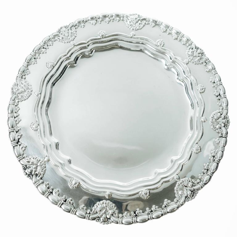 Tiffany & Co. Sterling Silver Plates Set of Ten, Circa 1905