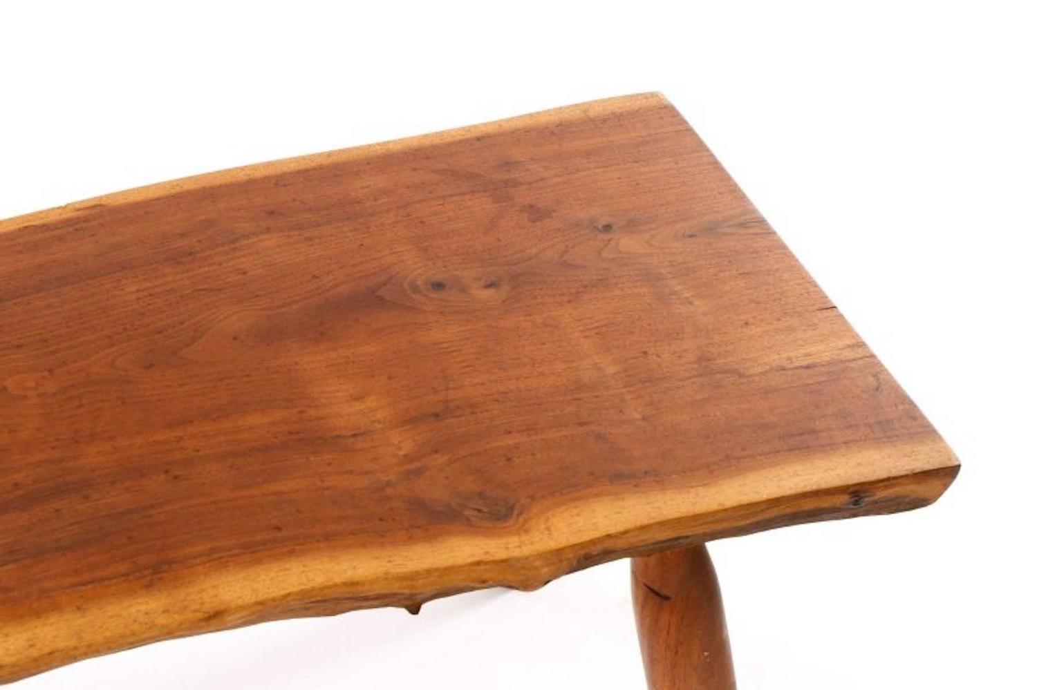 Large Walnut Slab Bench Coffee Table For Sale At 1stdibs