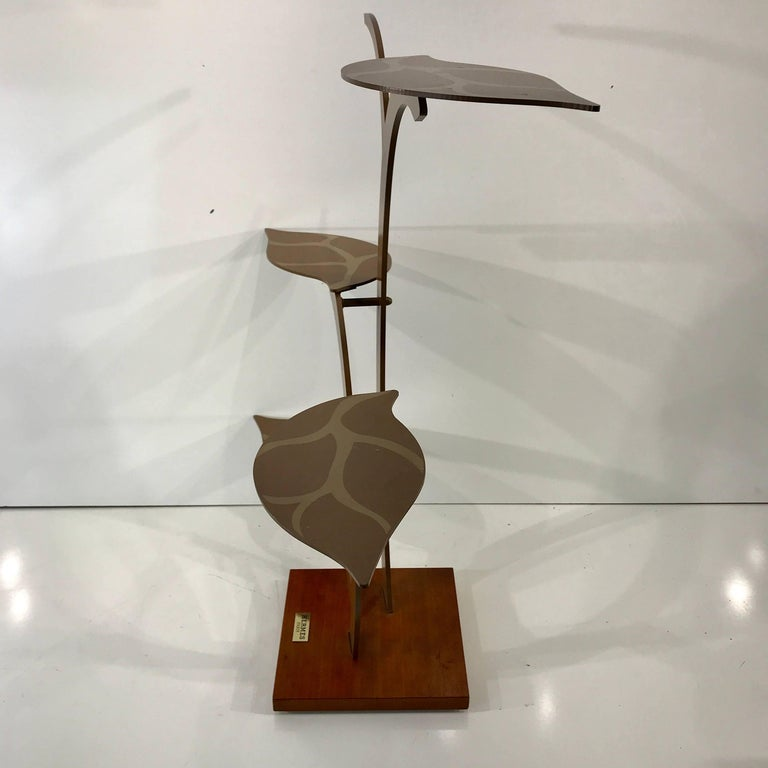 Metal Vintage Hermes Display Stand For Sale