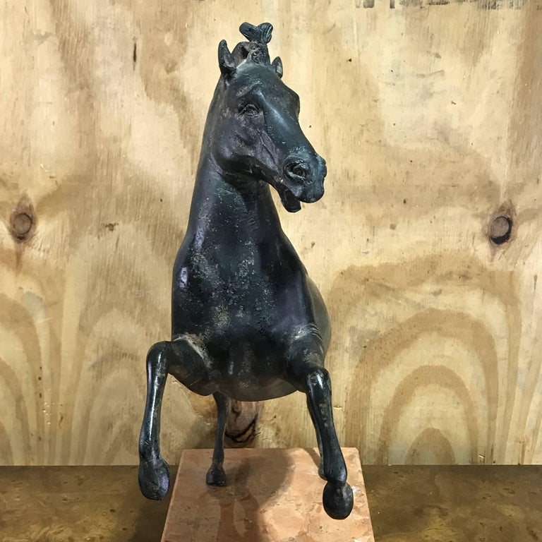 Grand Tour Bronze Sculpture of a Rearing Horse In Good Condition For Sale In Atlanta, GA
