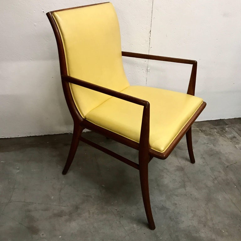 Pair of Armchairs by T.H. Robsjohn-Gibbings for Widdicomb, Model No. 4204 In Good Condition For Sale In Atlanta, GA