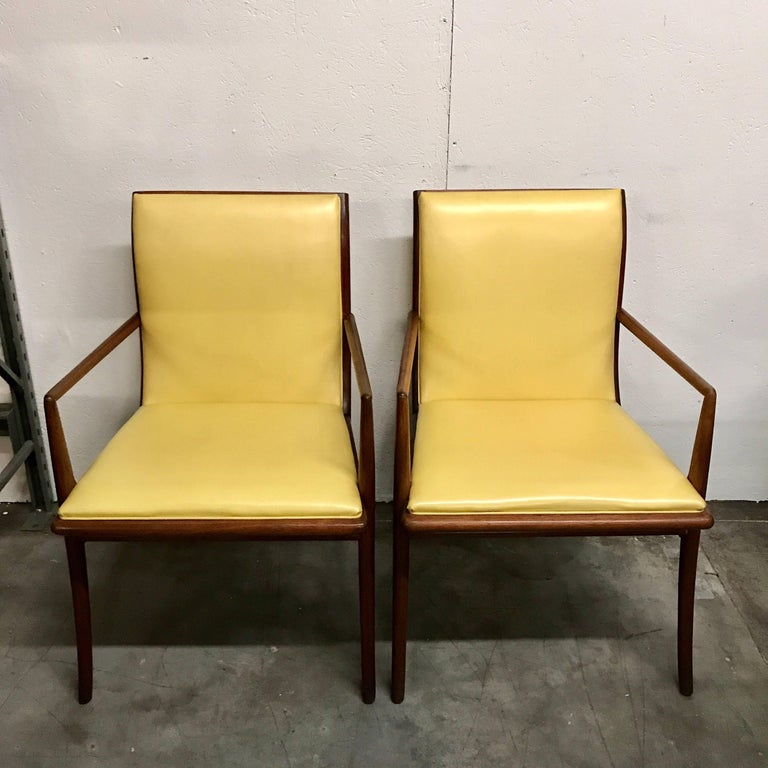 Pair of armchairs by T.H. Robsjohn-Gibbings for Widdicomb, Model no. 4204