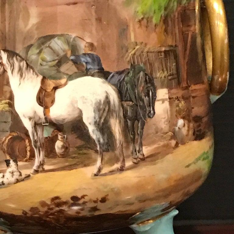 High Victorian Exquisite Mintons Barnyard Motif Cachepot For Sale