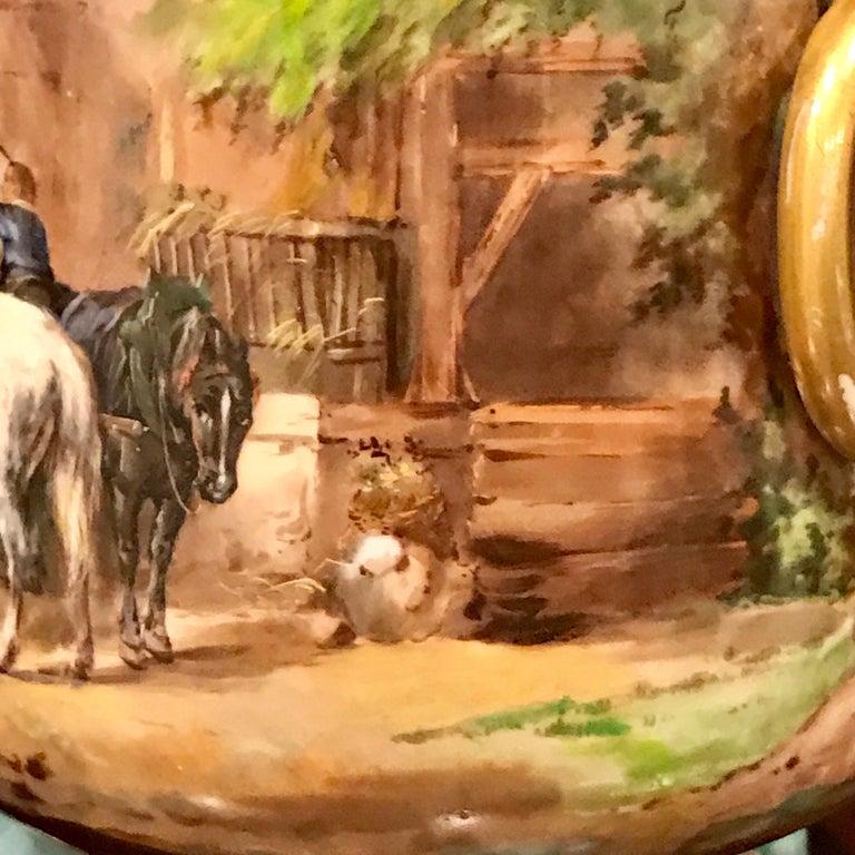 Exquisite Mintons Barnyard Motif Cachepot For Sale 1