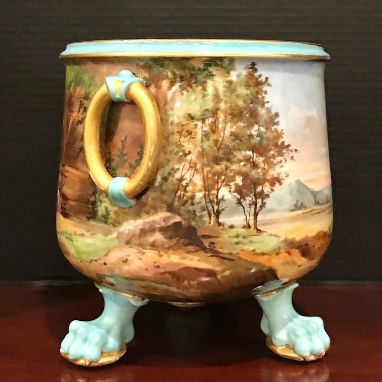 Exquisite Mintons Barnyard Motif Cachepot For Sale 2