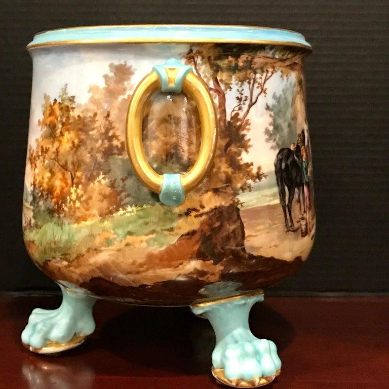 Exquisite Mintons Barnyard Motif Cachepot For Sale 4