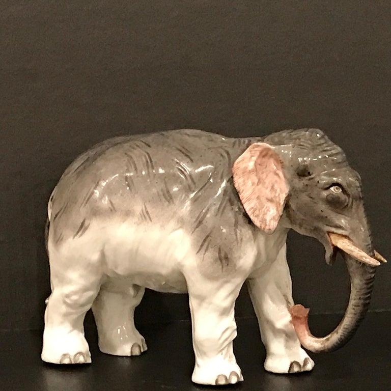 Meissen Model of an Elephant In Good Condition For Sale In Atlanta, GA