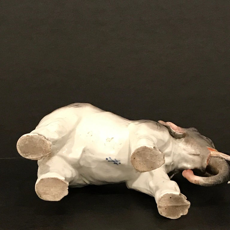Meissen Model of an Elephant For Sale 4