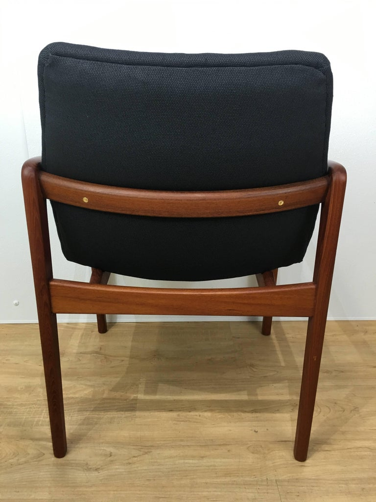 Mid-20th Century Six Danish Modern, Teak Cantilever Dining Chairs For Sale