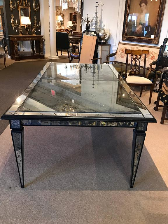 stunning maison jansen mirrored dining room table for sale