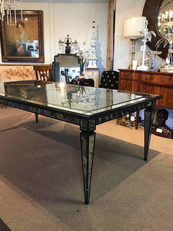 stunning maison jansen mirrored dining room table for sale at 1stdibs