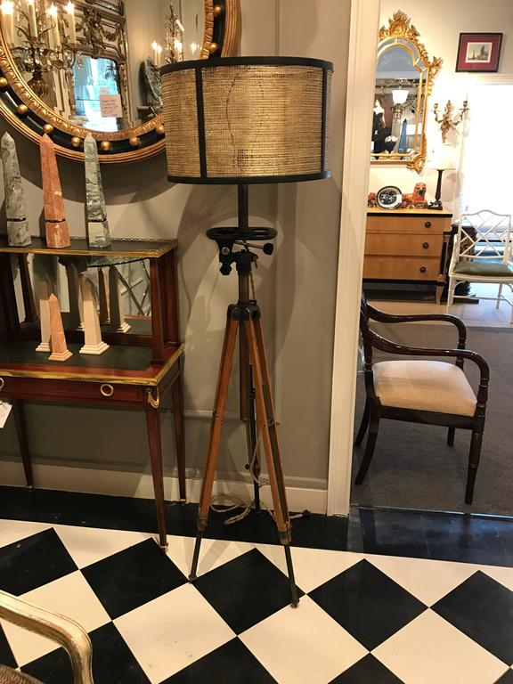 Antique Movie Camera Tripod Stand, Now as a Lamp 3