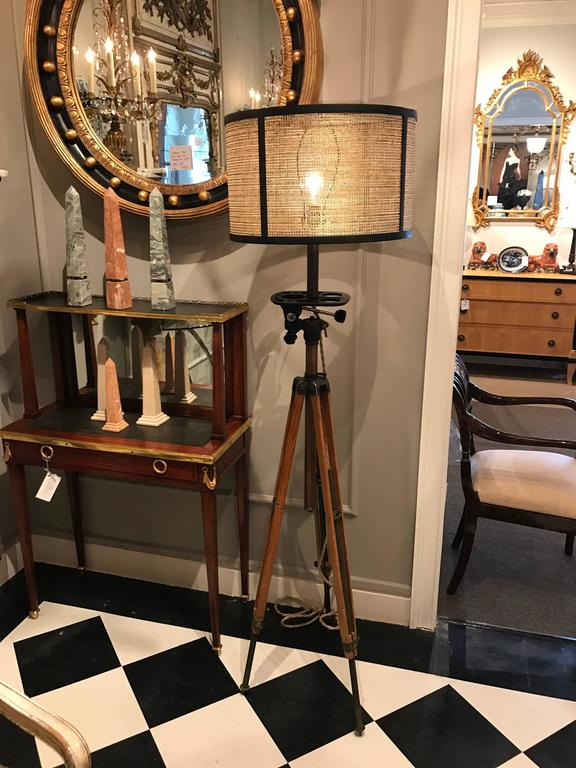 Antique Movie Camera Tripod Stand, Now as a Lamp 2