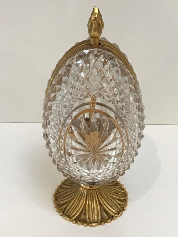 French Ormolu Mounted Crystal Egg Perfume At 1stdibs
