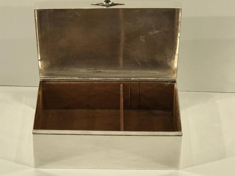 Scandinavian Modern Sterling Shagreen and Alligator Box by David Anderson, 1966 For Sale 2