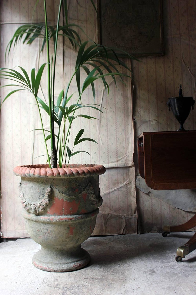 Large & Attractive Early to Mid-20th Century Terracotta Garden Urn For Sale 2