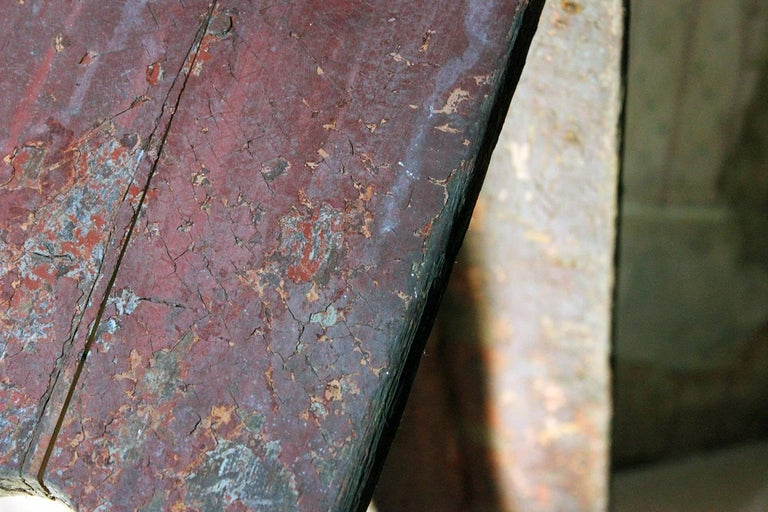 Early Victorian Early 19th Century Continental Painted Pine Bench, circa 1830-1840 For Sale