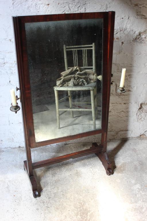 Rare Mid-19th Century Child's Cheval Mirror, circa 1860 In Good Condition For Sale In Bedford, Bedfordshire