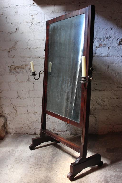 Mahogany Rare Mid-19th Century Child's Cheval Mirror, circa 1860 For Sale