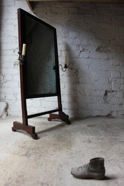 Rare Mid-19th Century Child's Cheval Mirror, circa 1860 For Sale 1
