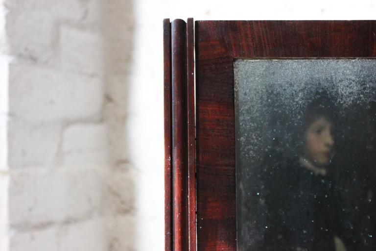 English Rare Mid-19th Century Child's Cheval Mirror, circa 1860 For Sale