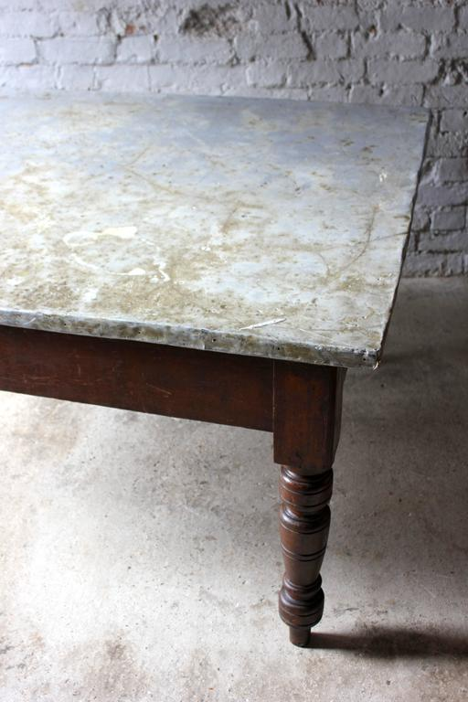 Late Victorian Fabulous 19th Century Victorian Pine and Zinc Topped Table, Circa 1870-1880 For Sale