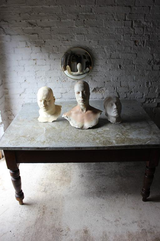 Fabulous 19th Century Victorian Pine and Zinc Topped Table, Circa 1870-1880 In Fair Condition For Sale In Bedford, Bedfordshire