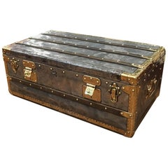 Very Rare Louis Vuitton Malle En Zinc Cabin Trunk, circa 1888
