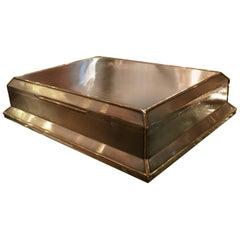 Asprey Art Deco Silver and Gold Cigar Box