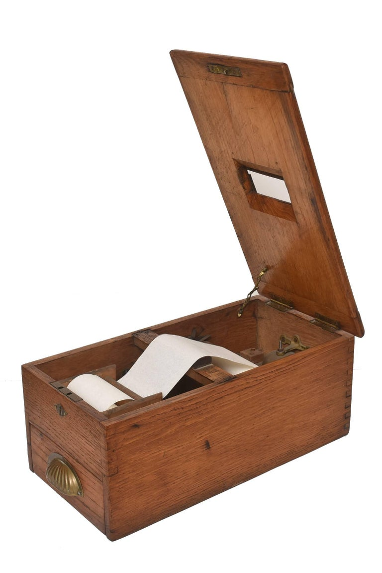 Antique Victorian Wood Voting Ballot Box In Good Condition For Sale In Miami Beach, FL