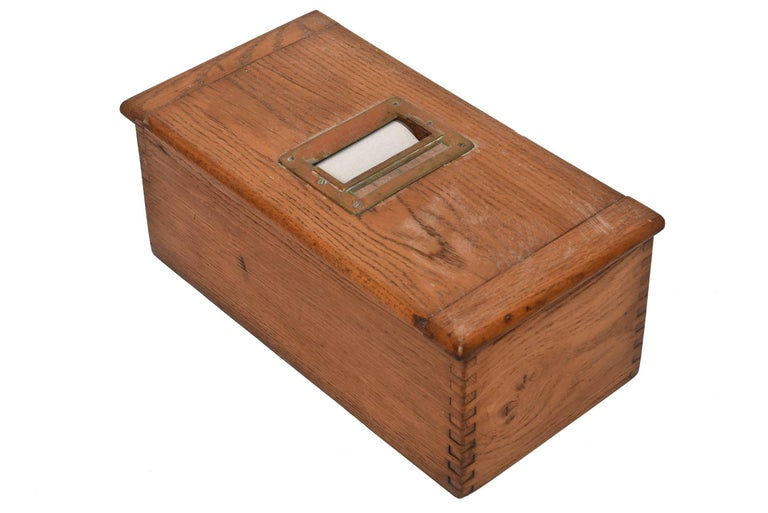Antique Victorian Wood Voting Ballot Box For Sale 1