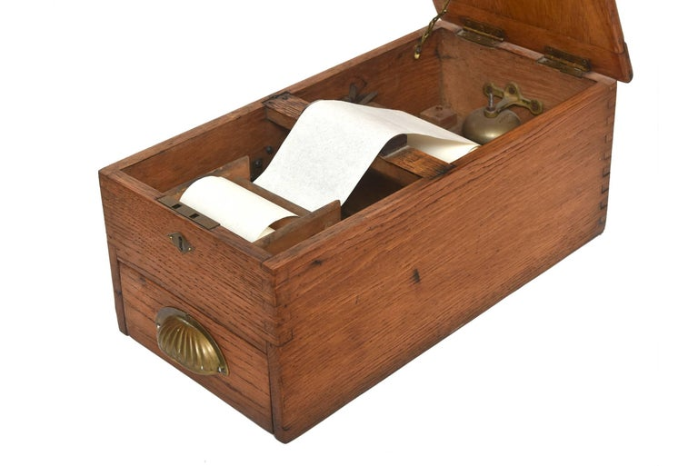 19th Century Antique Victorian Wood Voting Ballot Box For Sale