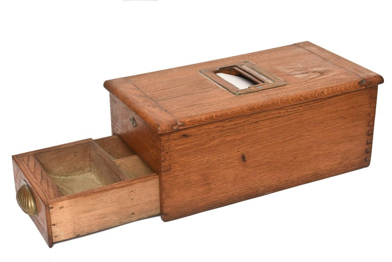 Antique Victorian Wood Voting Ballot Box For Sale 4