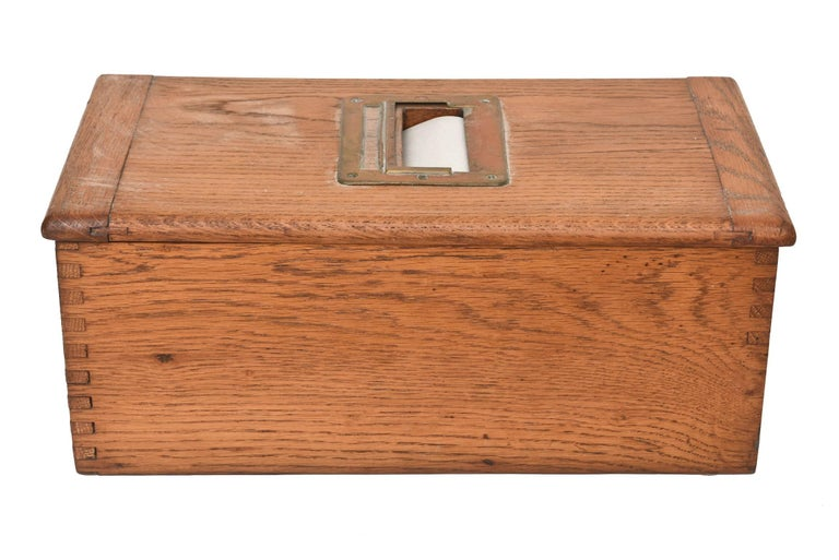 Antique Victorian Wood Voting Ballot Box For Sale 2
