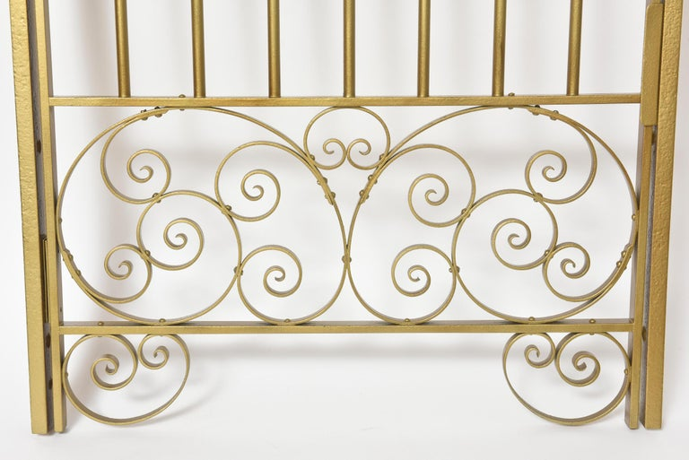 Victorian Antique Brass Finish on Iron Cashier Bank Teller or Post Office Cage Window For Sale