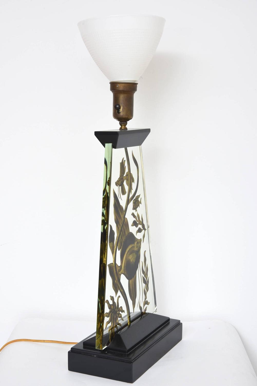 art deco fish aquarium lamp for sale at 1stdibs. Black Bedroom Furniture Sets. Home Design Ideas