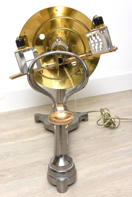 Metalwork Restored Antique Brass and Iron Universal Ophthalmometer for Optician / Eye Dr For Sale
