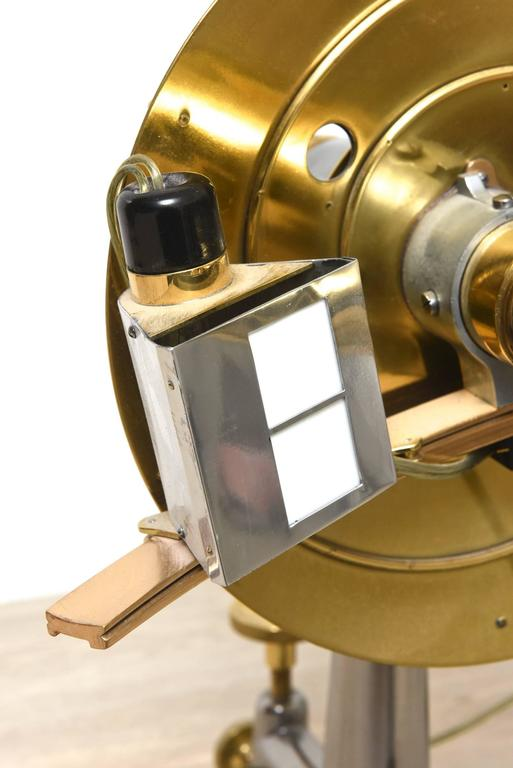 Restored Antique Brass and Iron Universal Ophthalmometer for Optician / Eye Dr In Good Condition For Sale In Miami Beach, FL