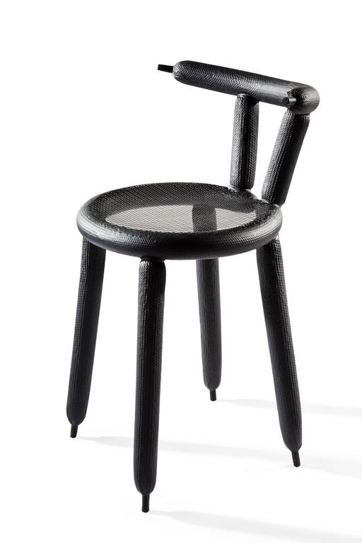 Charming Black Carbon Balloon Chair By Marcel Wanders 3