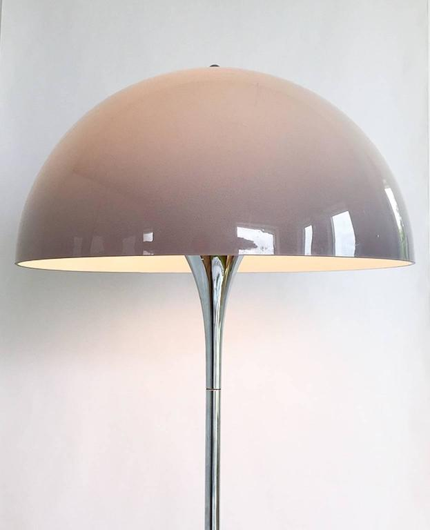 Rare Chrome Floor Light Panthella by Verner Panton for Louis Poulsen For Sale at 1stdibs